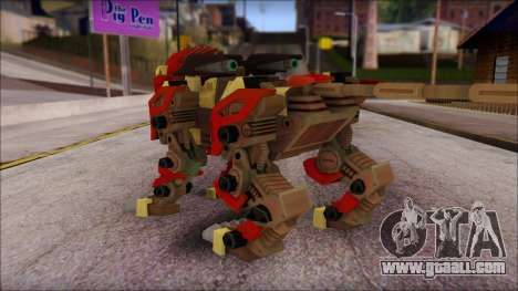 Liger Zero Zoids for GTA San Andreas second screenshot