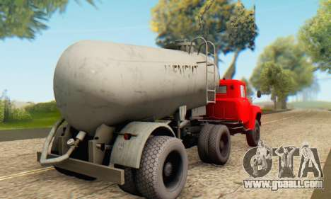 Trailer cement carrier TTC 26 for GTA San Andreas left view