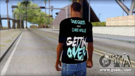David Guetta Gettin Over T-Shirt for GTA San Andreas second screenshot