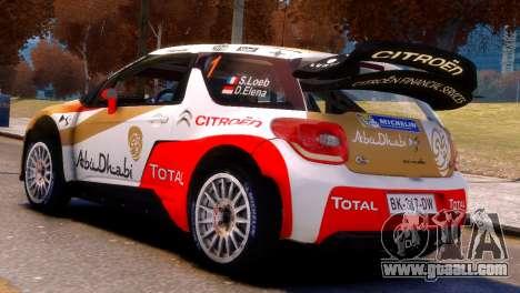 Citroen DS3 WRC for GTA 4 left view