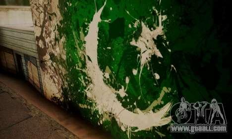 Pakistani Flag Graffiti Wall for GTA San Andreas third screenshot