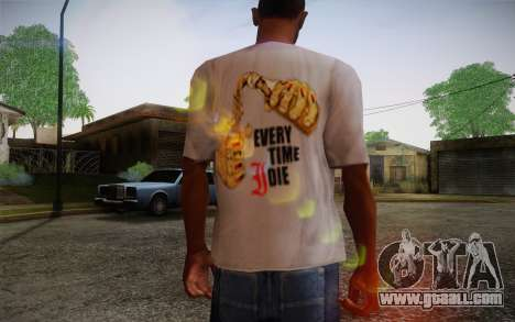 Everytime I Die T-Shirt for GTA San Andreas second screenshot