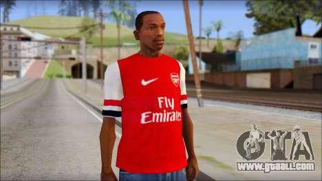 Arsenal 2013 T-Shirt for GTA San Andreas