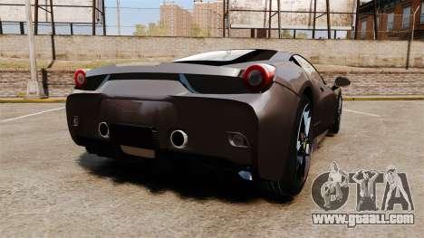 Ferrari 458 Italia Speciale Novitec Rosso for GTA 4 back left view