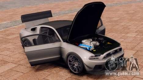 Ford Mustang GT 2014 Custom Kit for GTA 4 back view