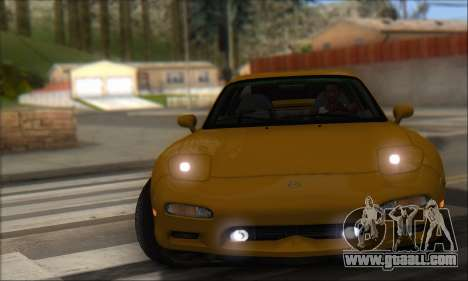 Mazda RX-7 1991 for GTA San Andreas back left view