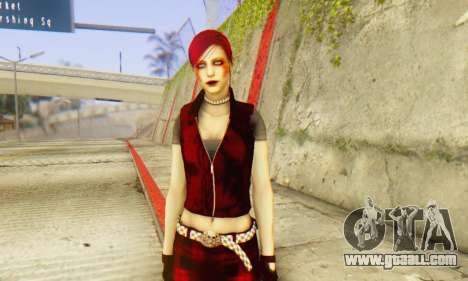 Red Girl Skin for GTA San Andreas