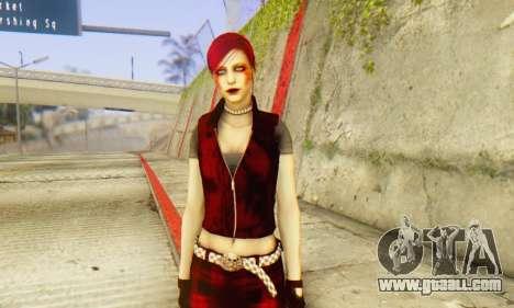 Red Girl Skin for GTA San Andreas