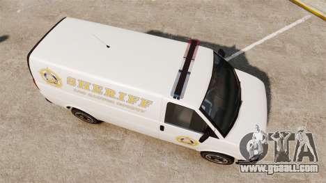 Vapid Speedo Los Santos County Sheriff [ELS] for GTA 4 right view
