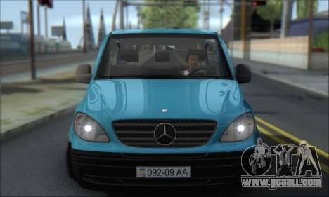 Mercedes-Benz 115 CDI Vito 2007 Stance for GTA San Andreas back view