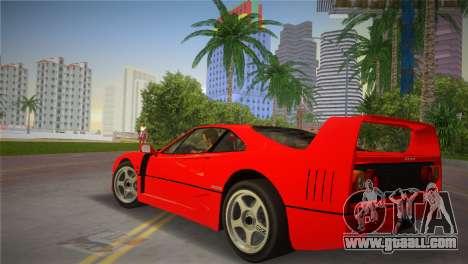 Ferrari F40 for GTA Vice City left view