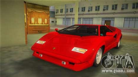 Lamborghini Countach 1988 25th Anniversary for GTA Vice City