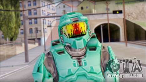 Masterchief Blue-Green from Halo for GTA San Andreas