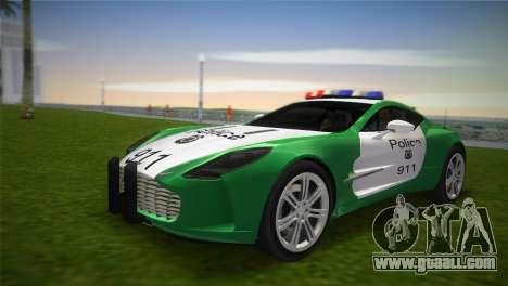 Aston Martin One-77 police for GTA Vice City