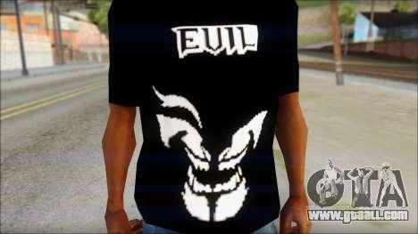 Evil T-Shirt for GTA San Andreas third screenshot