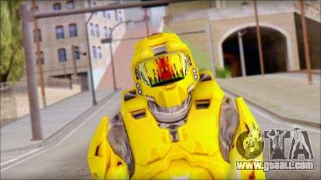 Masterchief Yellow from Halo for GTA San Andreas third screenshot