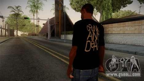Crunk Aint Dead Shirt Black for GTA San Andreas second screenshot