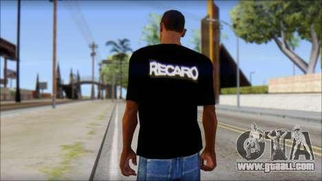 Recaro T-Shirt for GTA San Andreas second screenshot