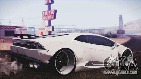 Lamborghini Huracan Liberty Walk for GTA San Andreas left view
