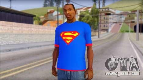 Superman T-Shirt v1 for GTA San Andreas