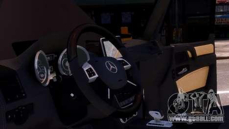 Mercedes-Benz G65 AMG v1.1 for GTA 4 inner view