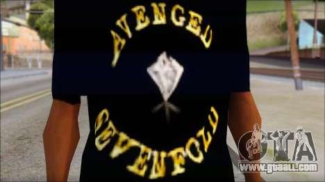 A7X Golden Deathbat Fan T-Shirt for GTA San Andreas third screenshot