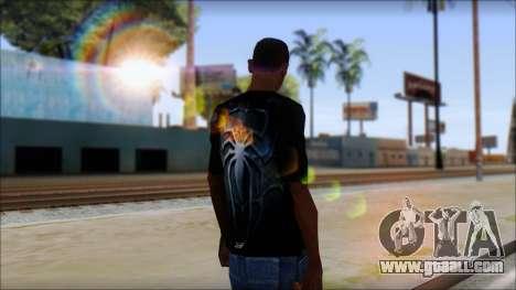 Spiderman 3 T-Shirt for GTA San Andreas second screenshot
