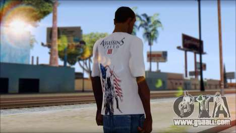 Assassins Creed 3 Fan T-Shirt for GTA San Andreas second screenshot