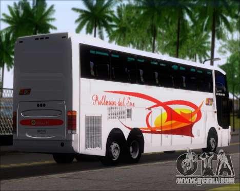 Busscar Jum Buss 400 Volvo B10R Pullman Del Sur for GTA San Andreas back left view