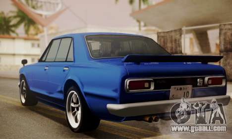 Nissan Skyline GC10 2000GT for GTA San Andreas left view