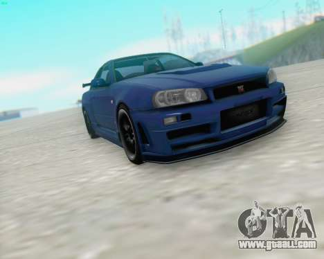 Nissan Skyline R34 Fast and Furious 4 for GTA San Andreas left view