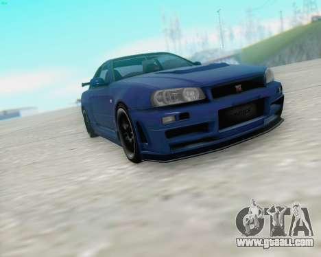 Nissan Skyline R34 Fast and Furious 4 for GTA San Andreas