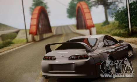 Toyota Supra Stock for GTA San Andreas left view