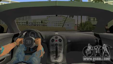 Bugatti Veyron for GTA Vice City back left view