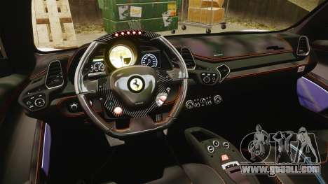 Ferrari 458 Italia Speciale Novitec Rosso for GTA 4 side view