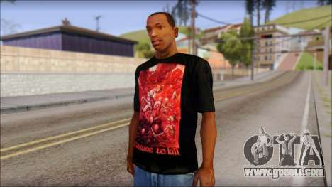 Kreator Shirt for GTA San Andreas