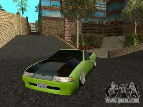Elegy Cabrio HD for GTA San Andreas side view