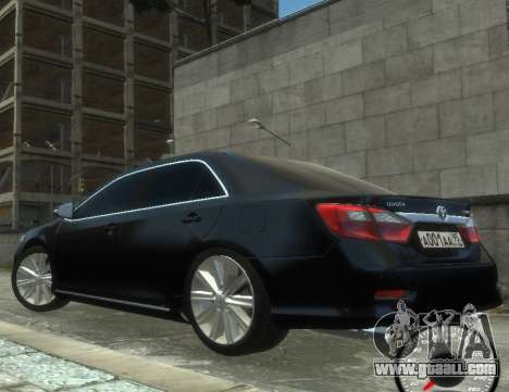 Toyota Camry 2013 for GTA 4 back left view