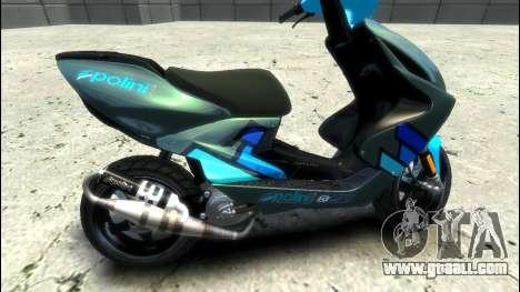 Yamaha Aero X Polini for GTA 4 left view