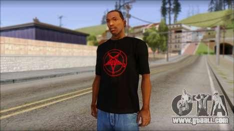 Red Pentagram Shirt for GTA San Andreas