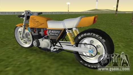 Kawasaki Z400FX Street Drag Racer for GTA Vice City left view