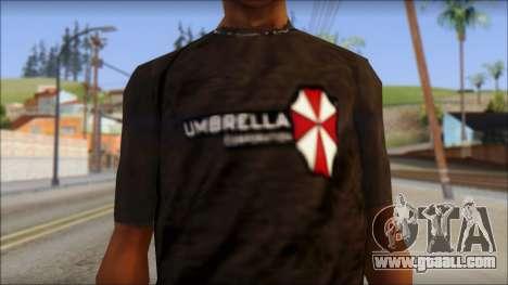 Umbrella Corporation Black T-Shirt for GTA San Andreas third screenshot