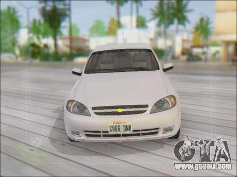 Chevrolet Lacetti for GTA San Andreas upper view