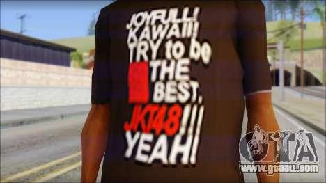 JKT48 Joyfull Kawai Shirt for GTA San Andreas third screenshot