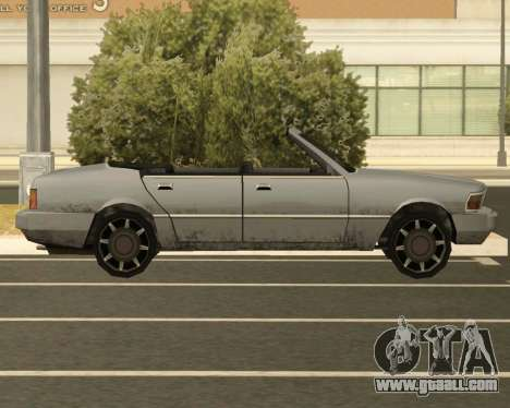 Sentinel Convertible for GTA San Andreas left view