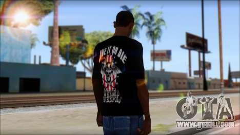 A7X Love It Or Die Fan T-Shirt for GTA San Andreas second screenshot
