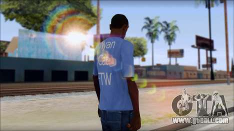 Nyan Cat FTW T-Shirt for GTA San Andreas second screenshot
