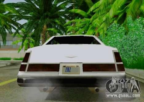 Washington Limousine for GTA San Andreas back view