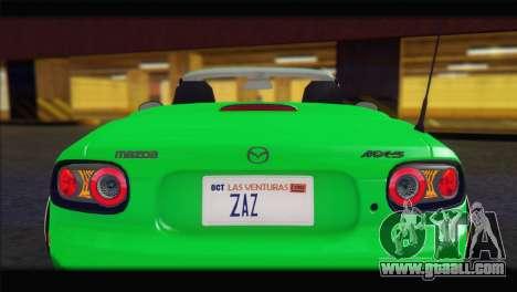 Mazda MX-5 2010 for GTA San Andreas inner view
