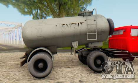 Trailer cement carrier TTC 26 for GTA San Andreas back left view